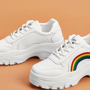 Shoes - Mens Rainbow Chunky Sneakers